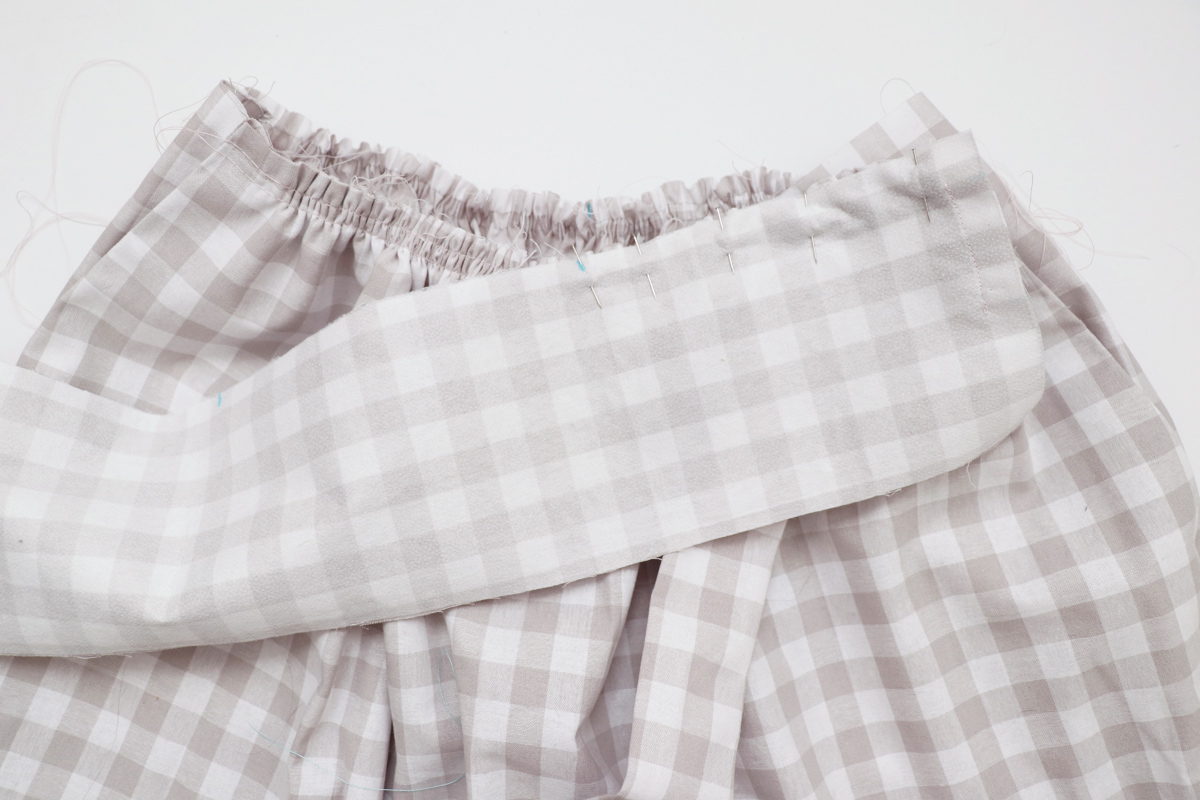 how to sew the tie waistband on the Wattle skirt by Megan Nielsen Patterns