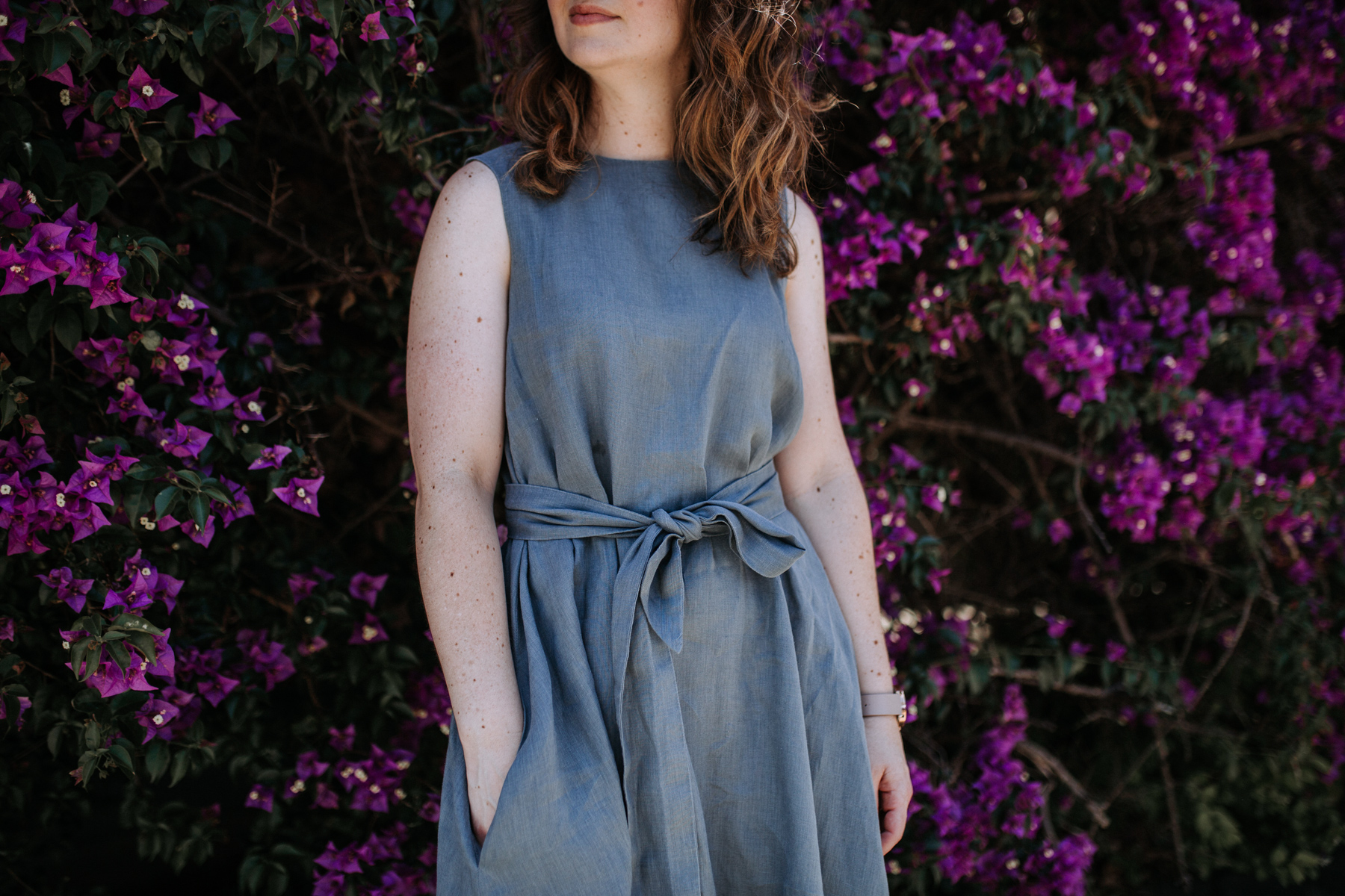 Megan Nielsen linen Floreat dress