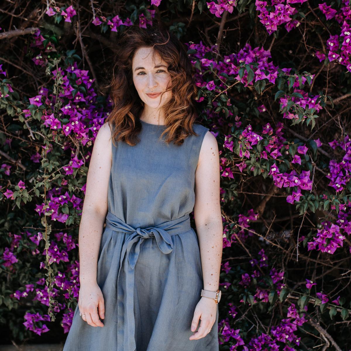 Megan Nielsen linen Floreat dress