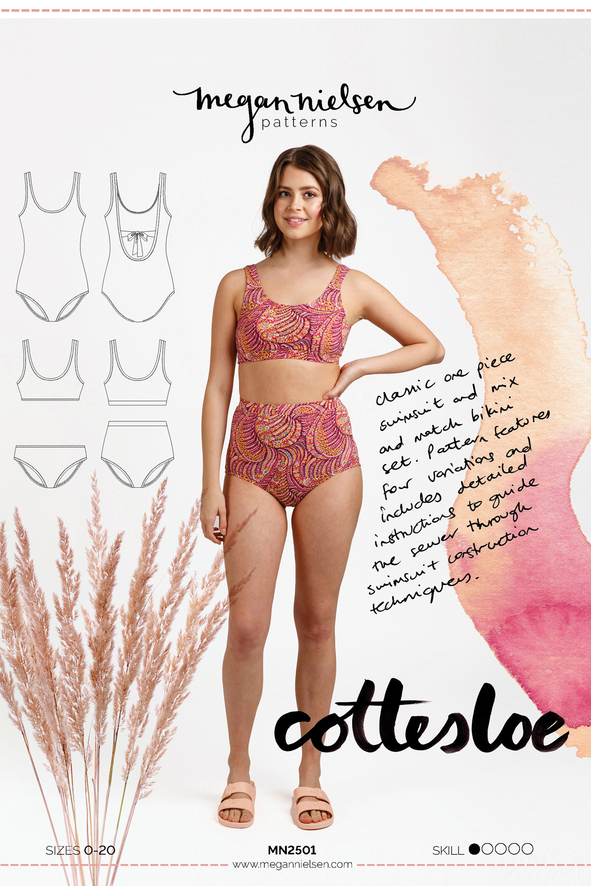 Cottesloe Swimwear Pattern Envelope