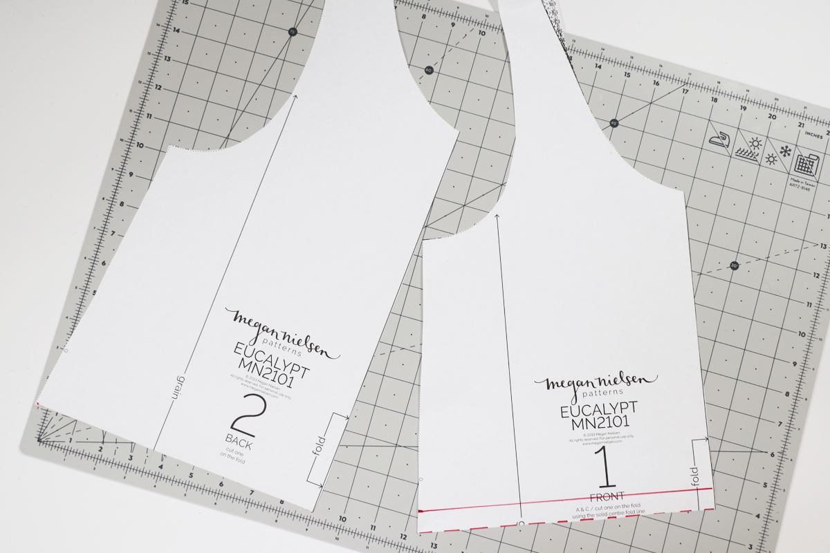 how to sew a gathered waist version of the Eucalypt tank and dress by Megan Nielsen Patterns