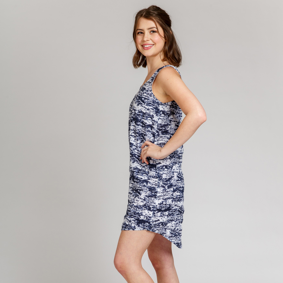 Megan Nielsen Eucalypt woven dress and tank pattern now in sizes 0-20 and curve 14-30