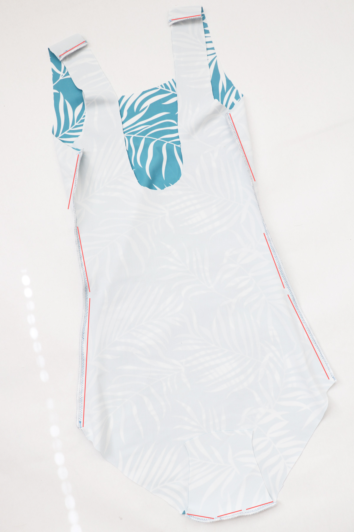 how to sew the View B one piece verison of the Cottsloe swimsuit by Megan Nielsen Patterns