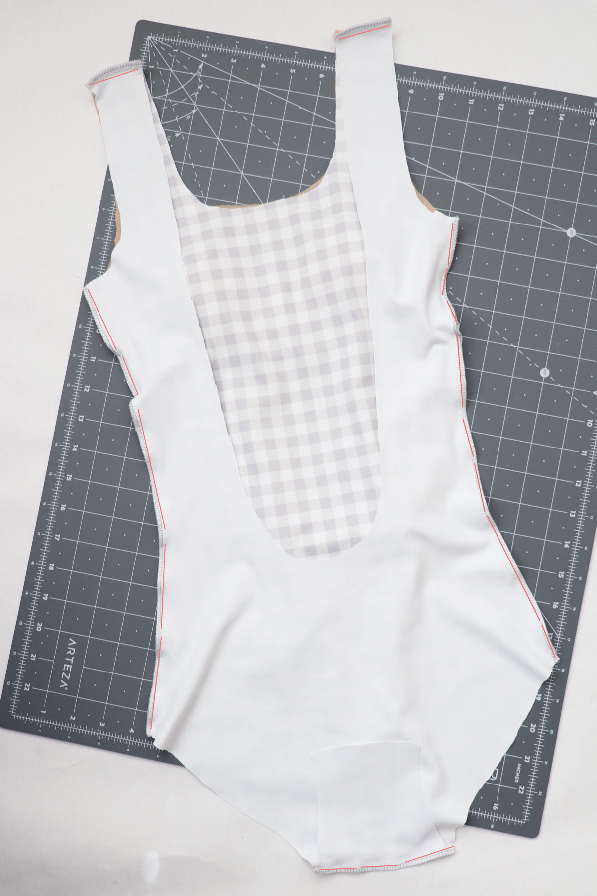 how to sew the View A one piece version of the Cottsloe swimsuit by Megan Nielsen Patterns