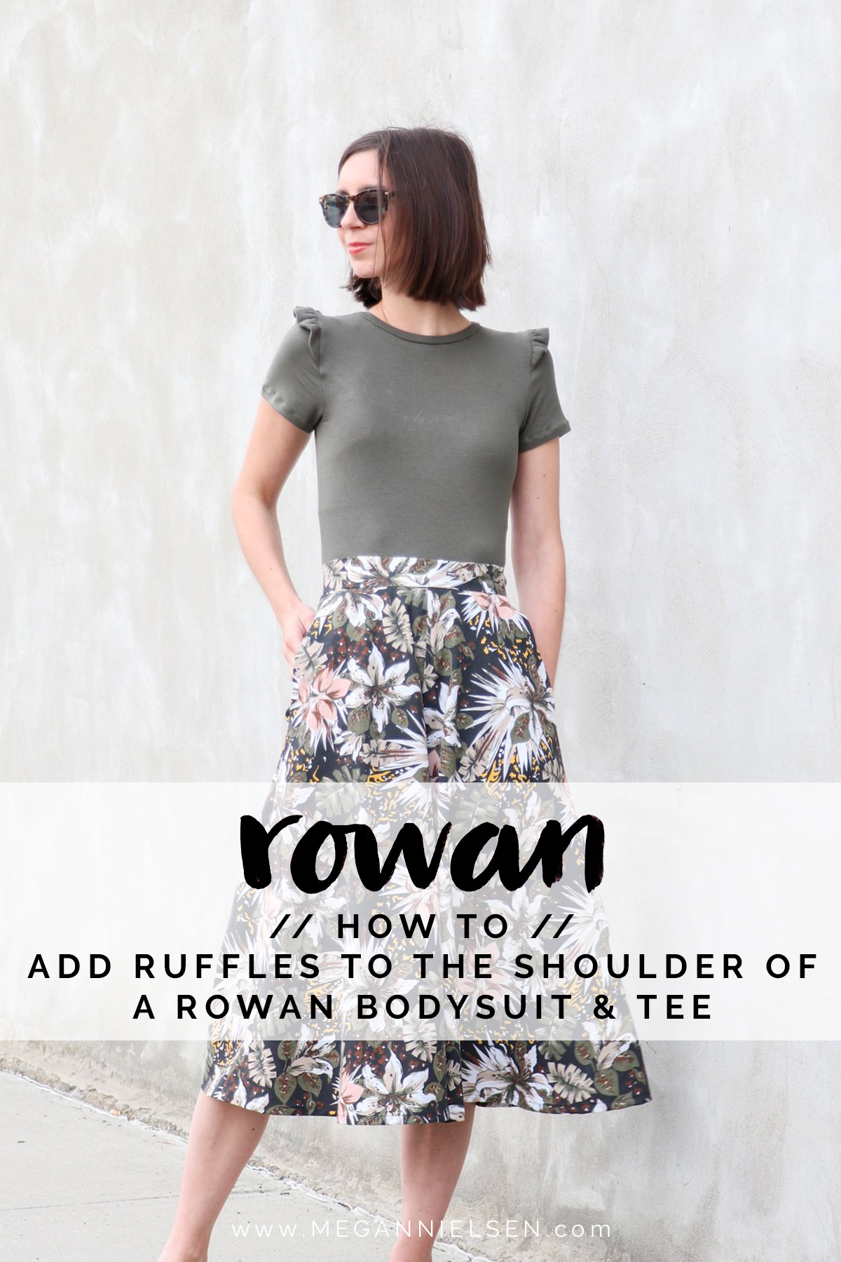 How to add ruffles to your Rowan shoulder