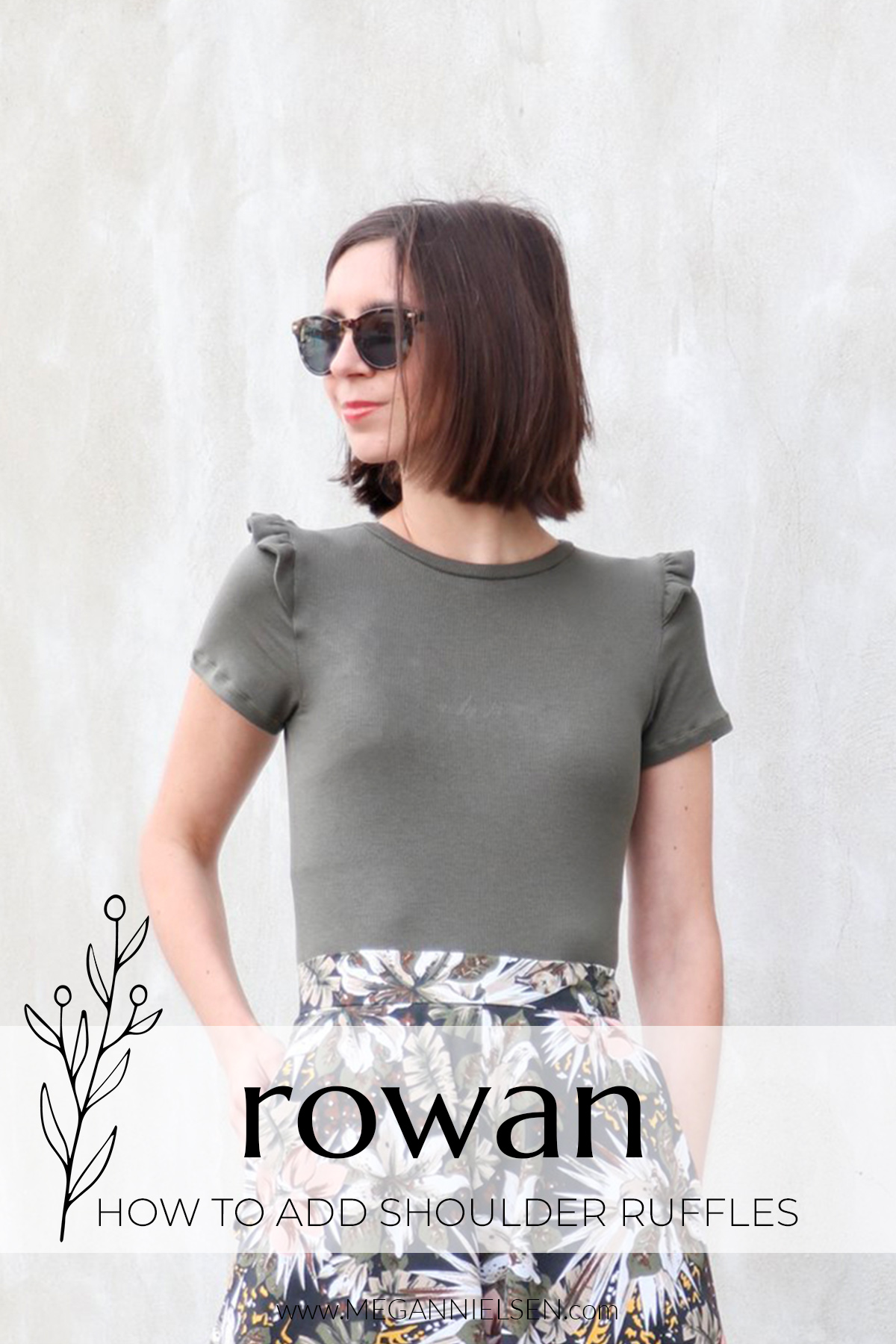 How to add shoulder ruffles to the Rowan pattern by Megan Nielsen patterns