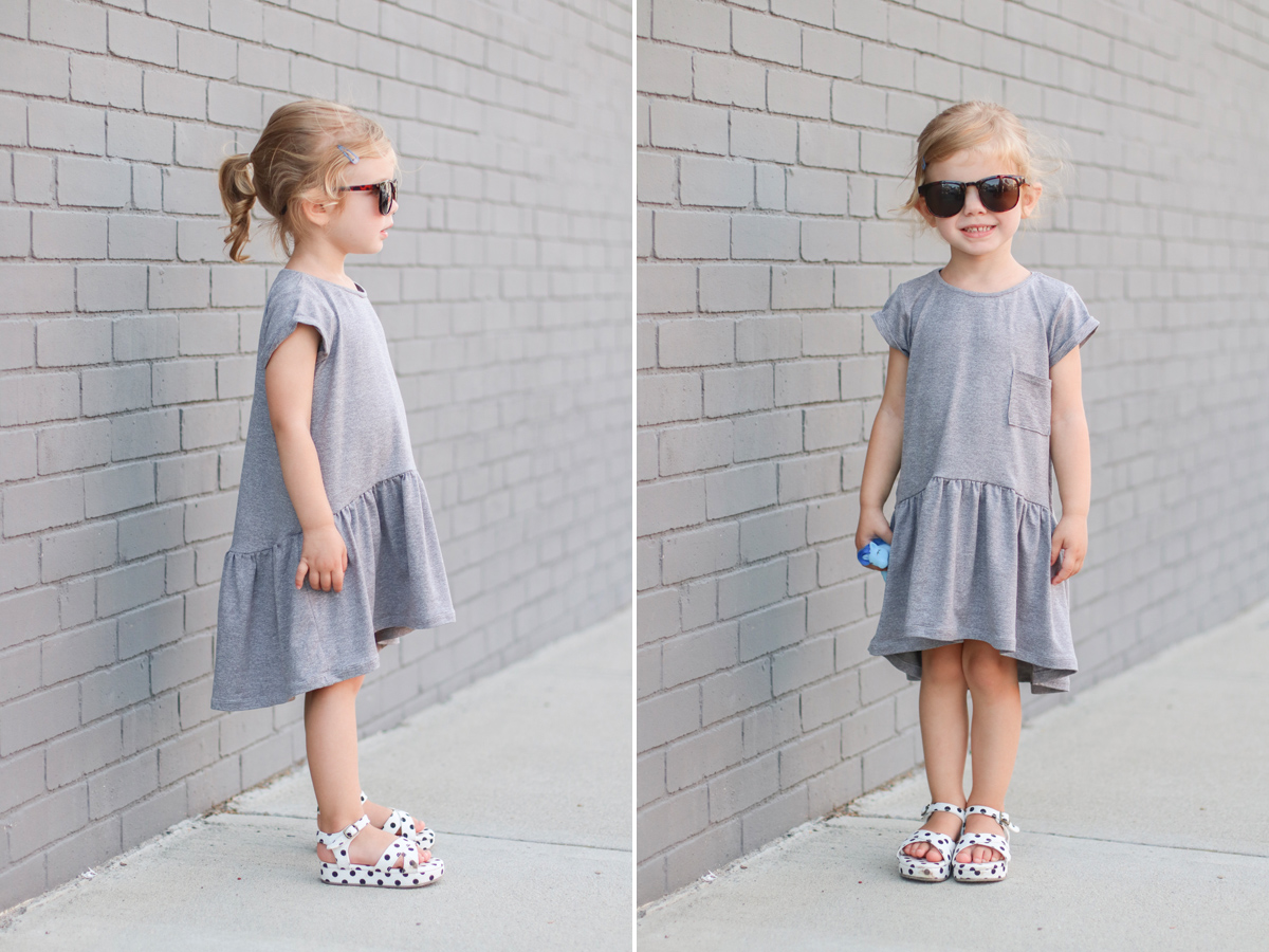 how to make a gathered dress using the Briar tee pattern by Megan Nielsen Patterns
