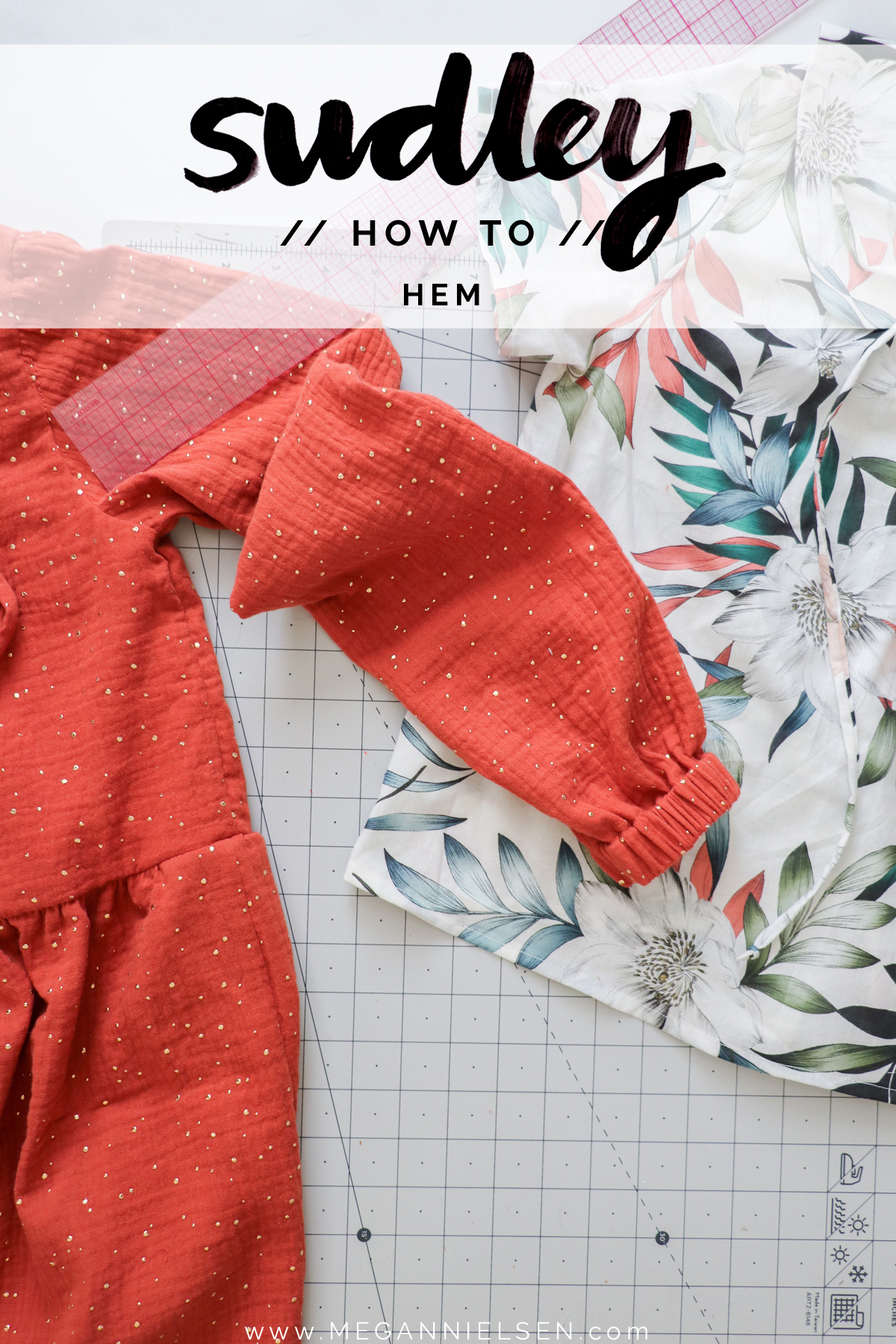 How to Hem the Sudley Dress & Blouse by Megan Nielsen Patterns