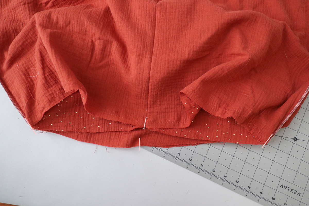 how to add the skirt to the Sudley dress by Megan Nielsen Patterns