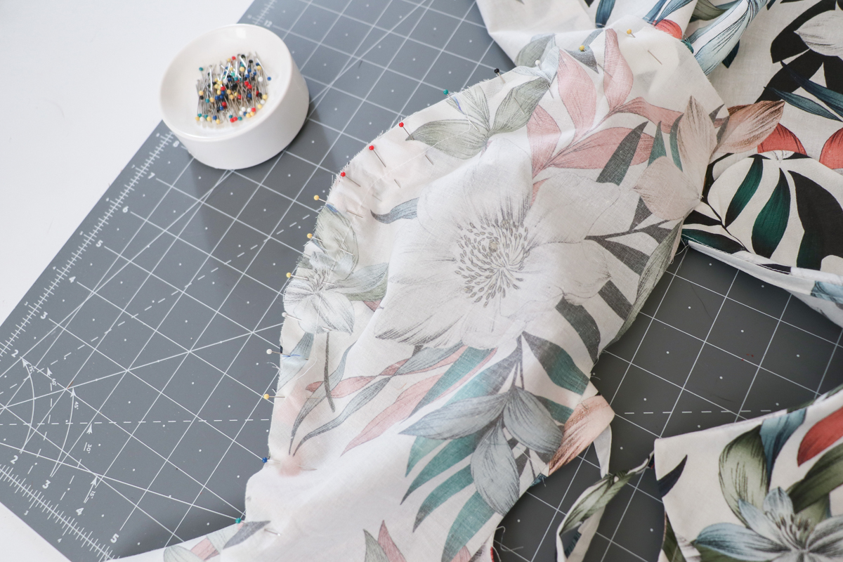 how to sew the sleeves and side seams on the Sudley blouse and dress by Megan Nielsen Patterns