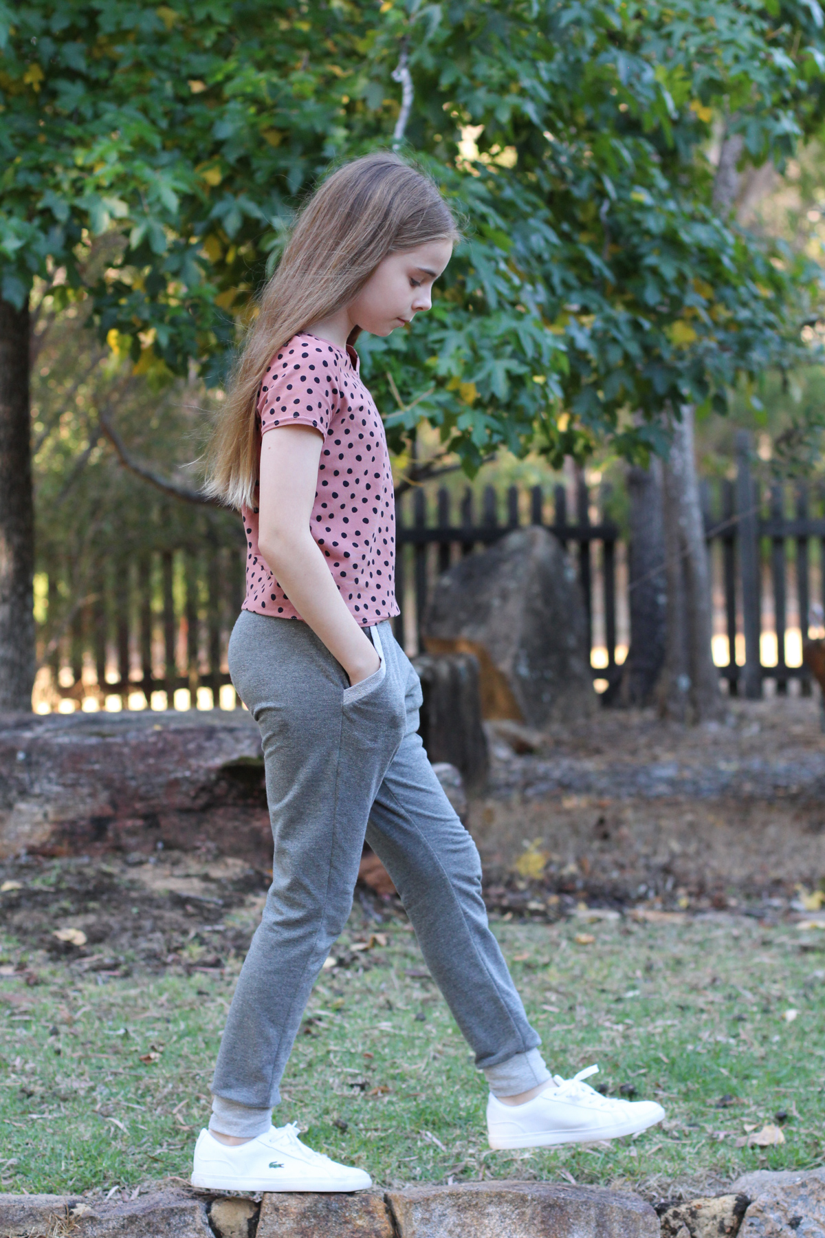 Bunny's True Bias Mini Hudson pants + Oliver and S Schoolbus tee // Megan Nielsen Design Diary