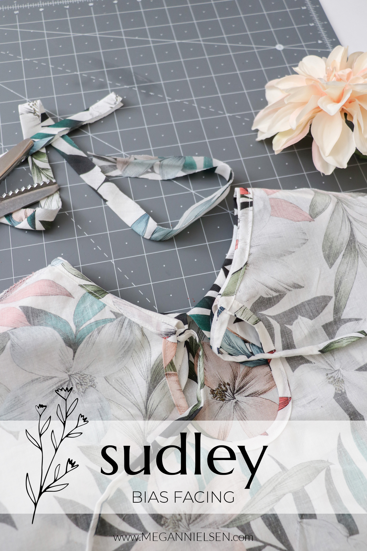 Sudley sewalong attaching the bias facing to the Sudley dress and top