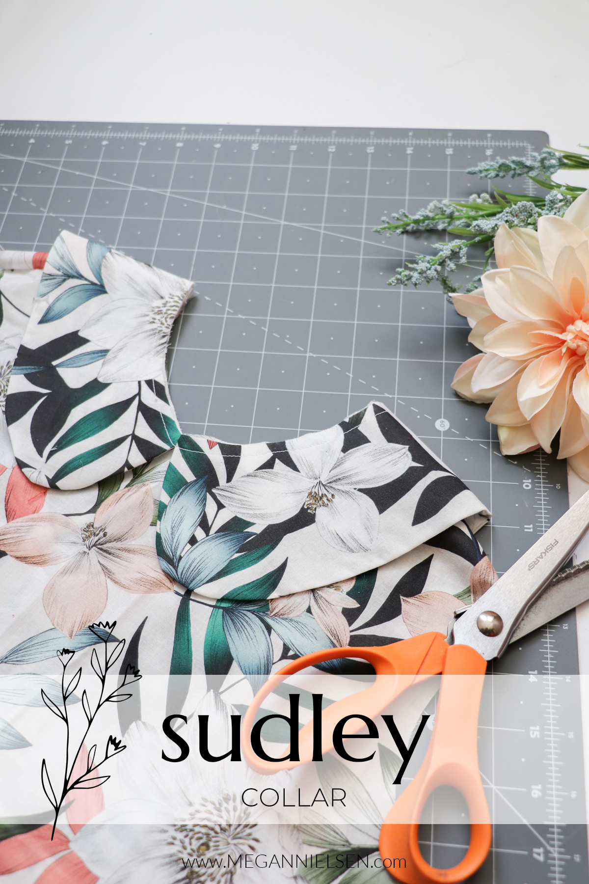 Sudley sewalong attaching the collar to the Sudley top and dress pattern