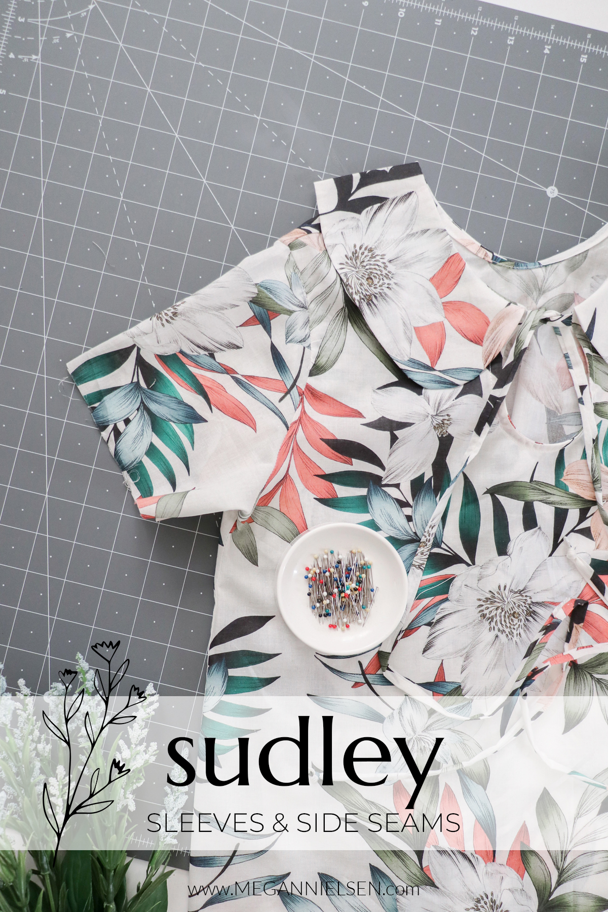Sudley sewalong sleeves and side seams