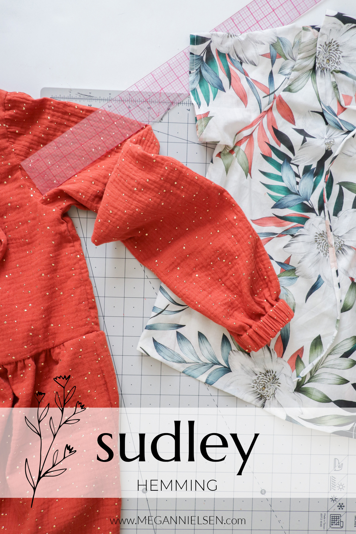 Sudley sewalong hemming all versions of the Sudley top and dress pattern