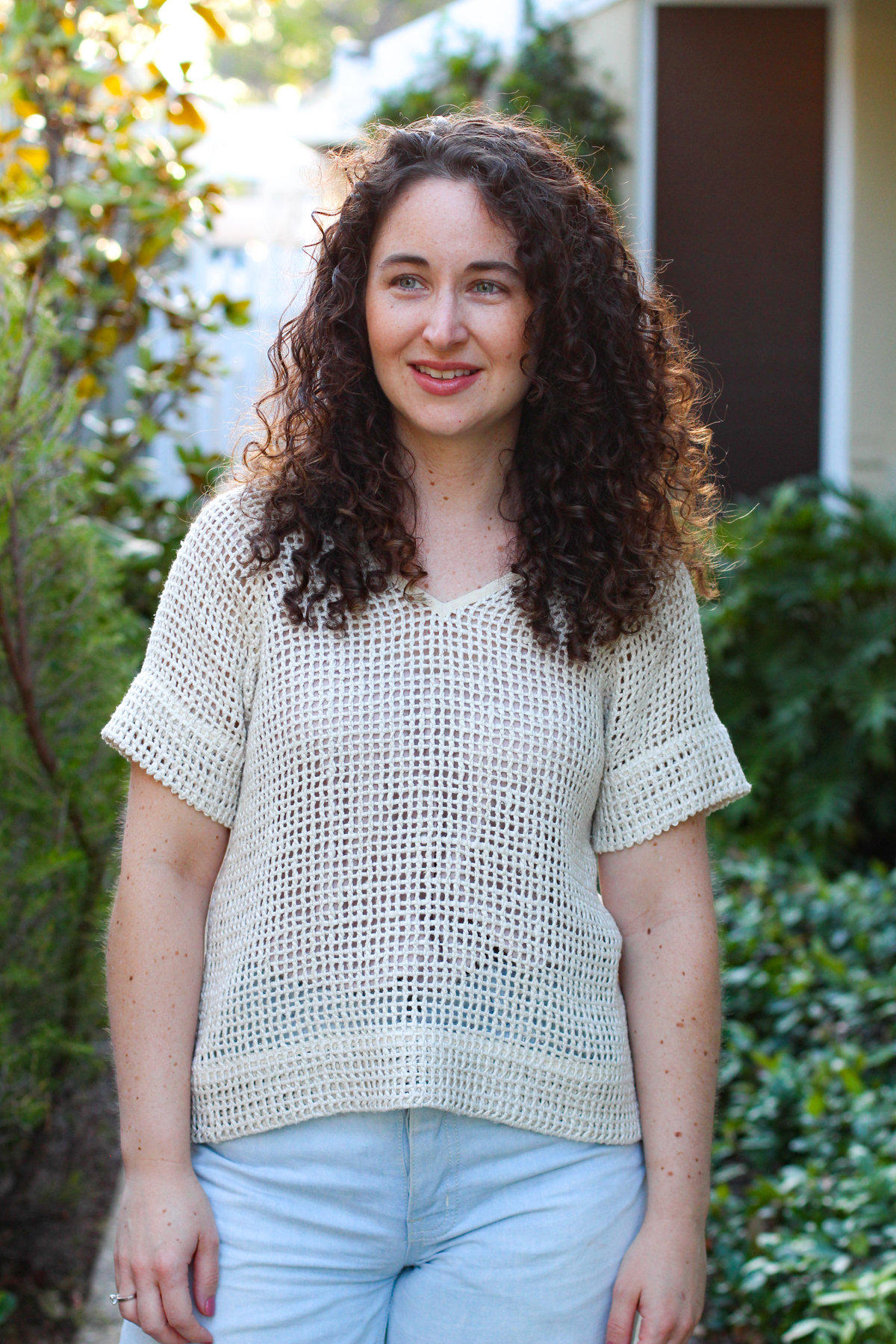Sewing a raw silk open weave River top! Megan Nielsen Design Diary