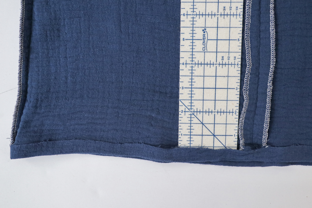 How to straighten the hem on the Dove blouse by Megan Nielsen Patterns