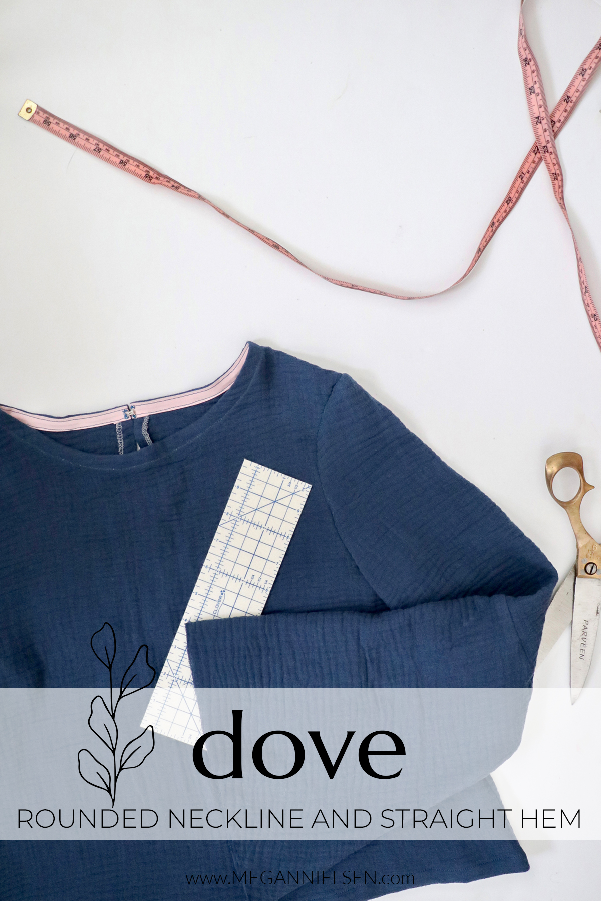 Dove sewalong rounded neckline and straight hem variation