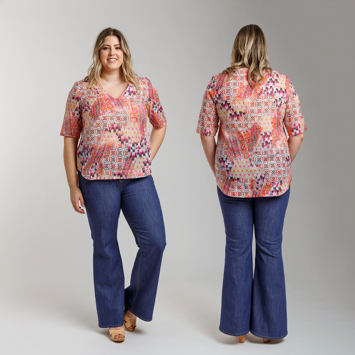 Introducing the Dove blouse sewing pattern now available in sizes 0-30!