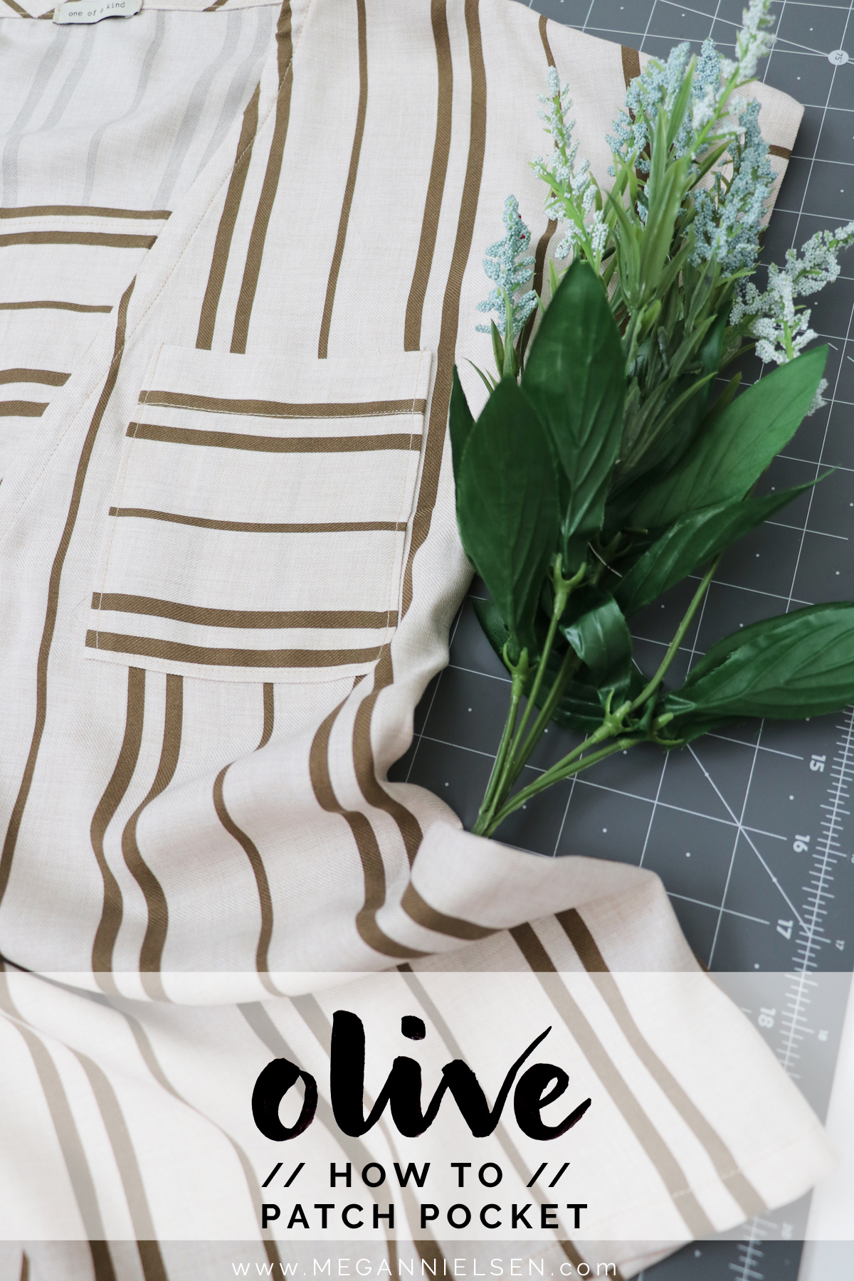 How to sew the patch pocket on the Olive blouse and dress by Megan Nielsen Patterns