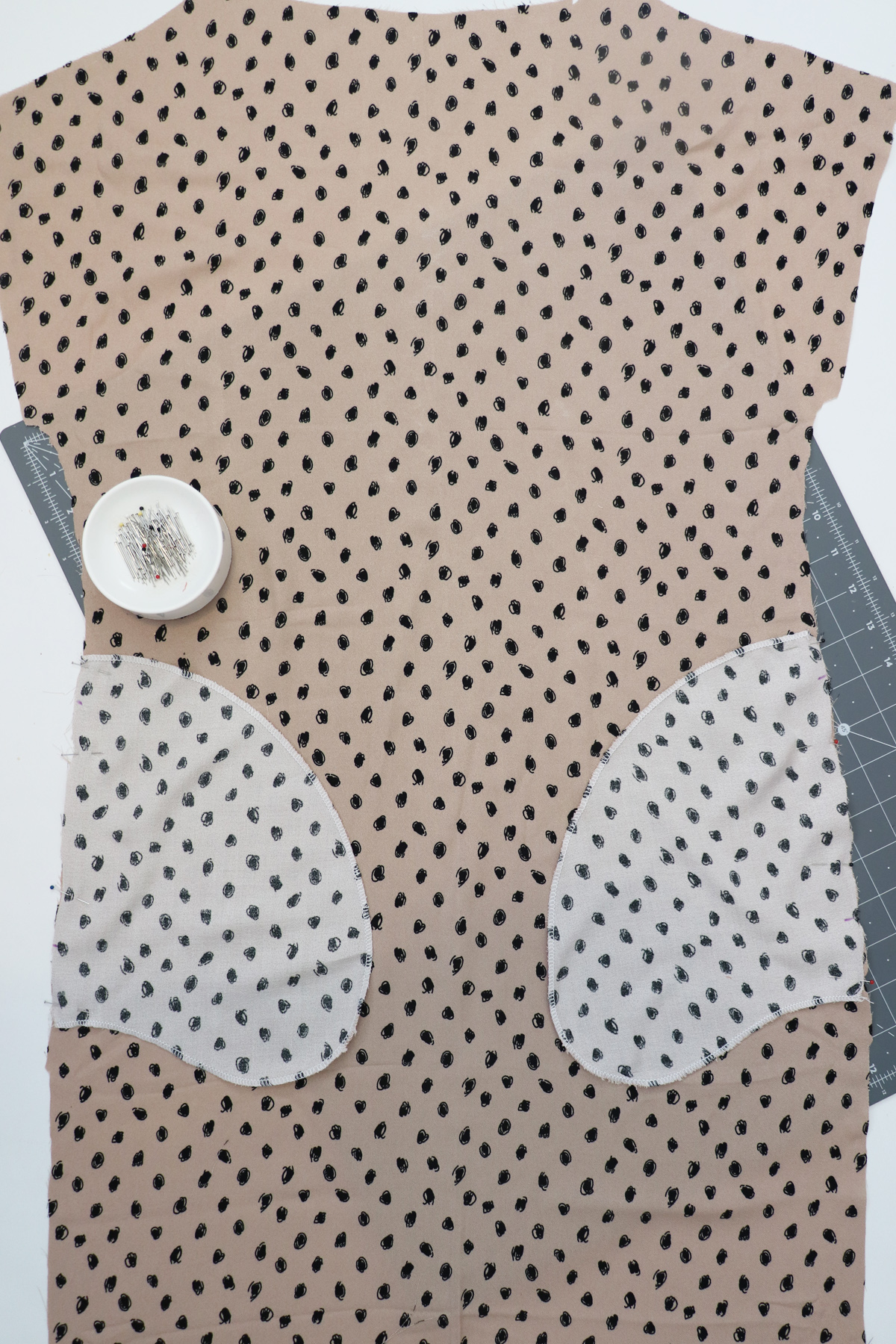 How to make a shift dress with pockets with the Olive top by Megan Nielsen Patterns