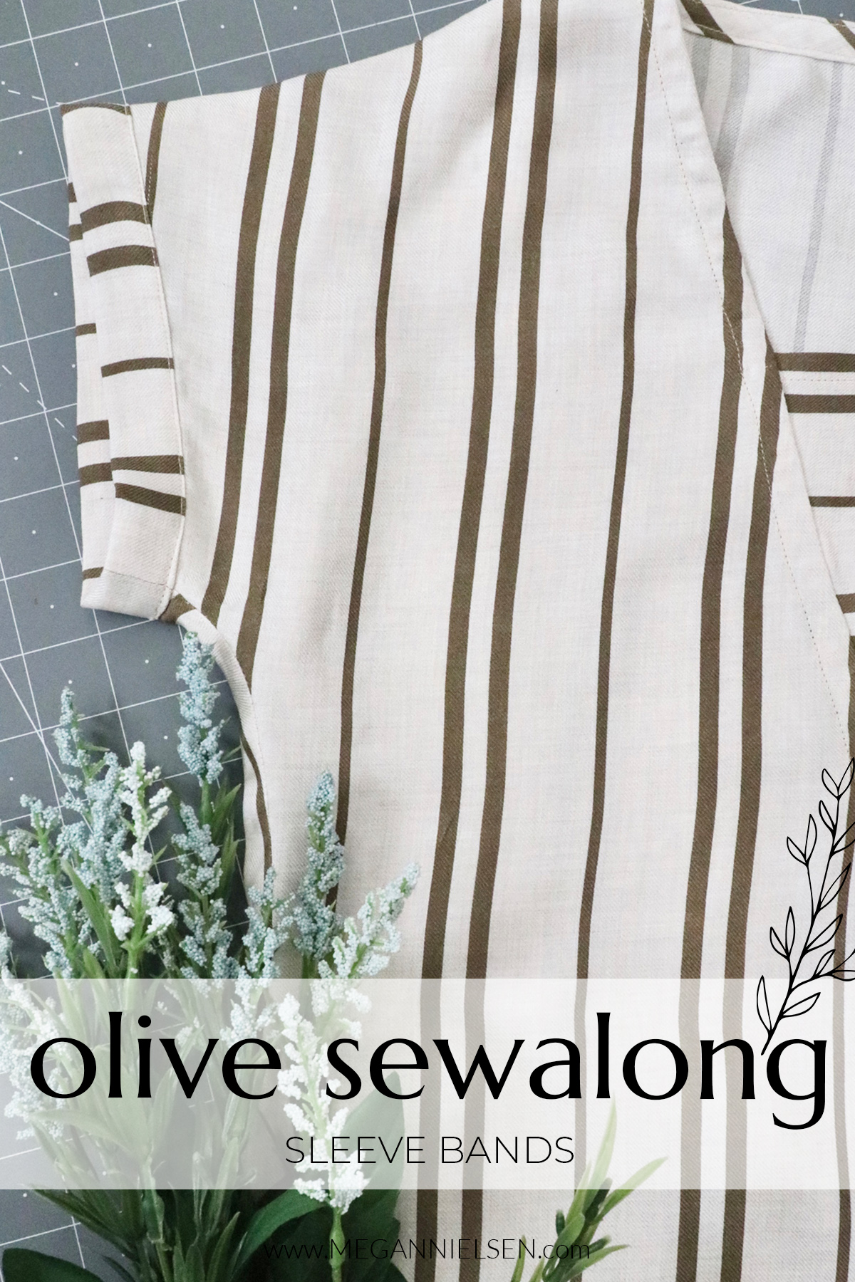 How to add sleeve bands to the Olive dress and top sewalong