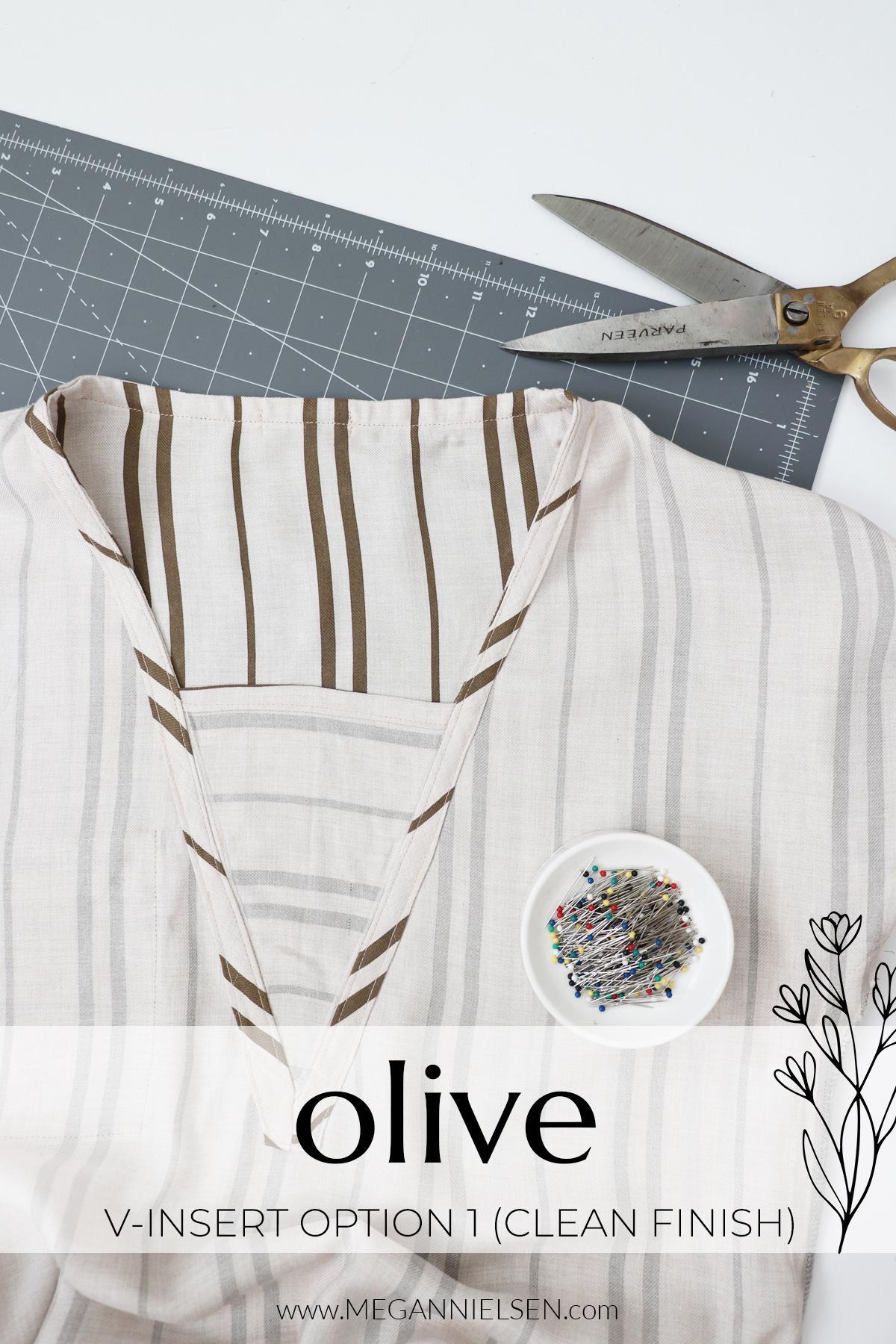 Olive sewalong v-insert option 1