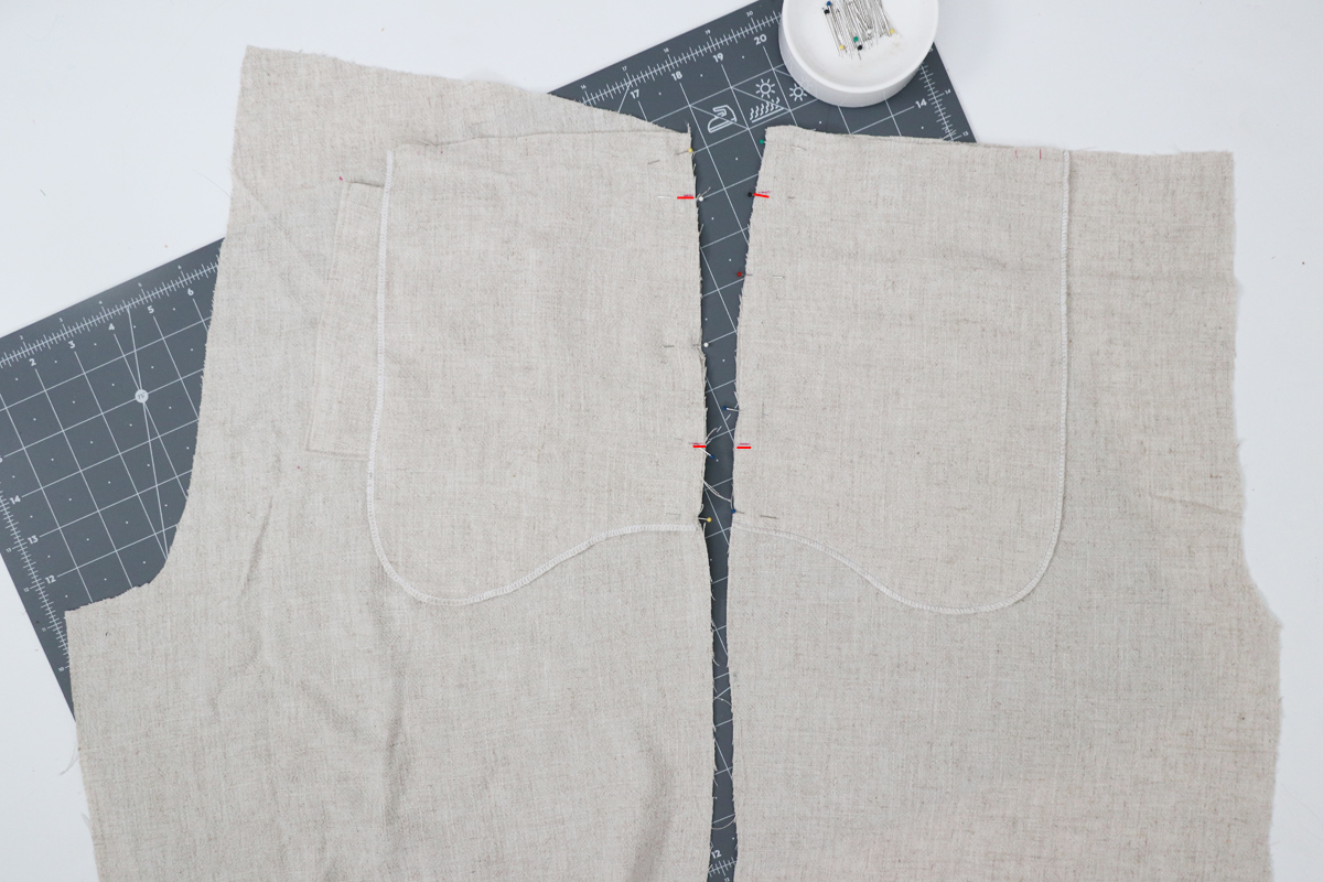 how to sew the inseam pockets on the Opal pants and shorts by Megan Nielsen Patterns