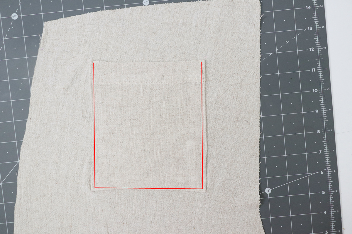 how to sew the front and back patch pockets on the Opal pants and shorts by Megan Nielsen Patterns
