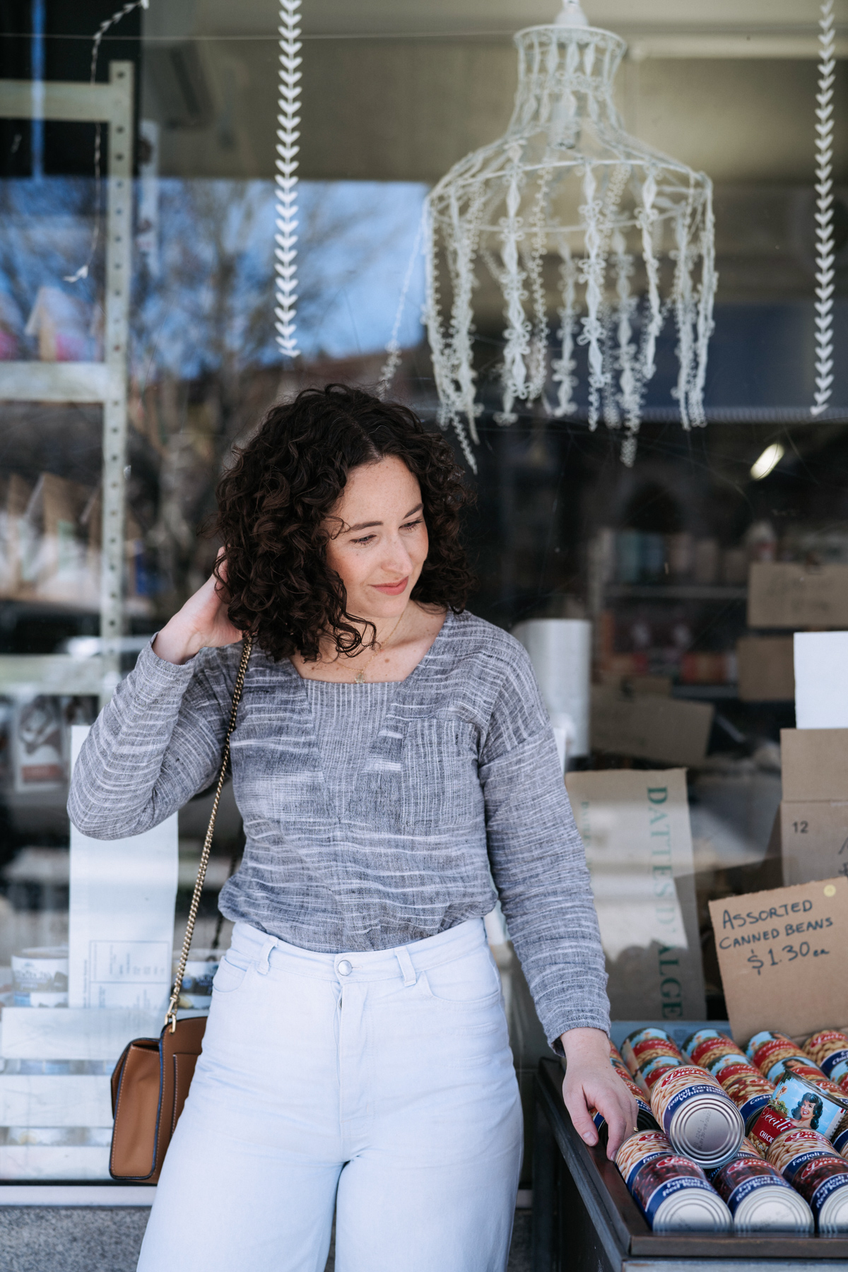 Megan Nielsen's Olive top sewing pattern - View C long sleeve variation   Megan Nielsen Patterns Blog