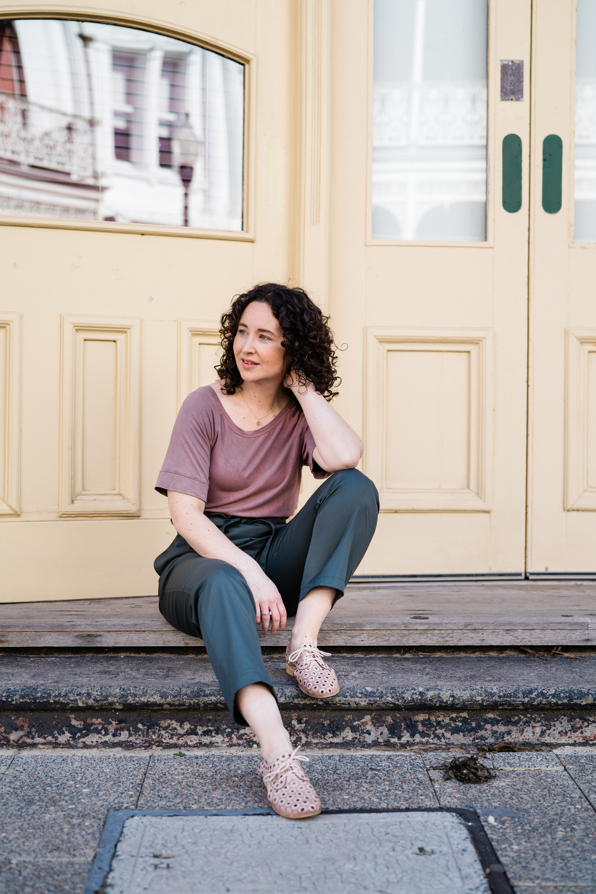 Opal Pants + River tee | DIY outfit by Megan Nielsen Patterns