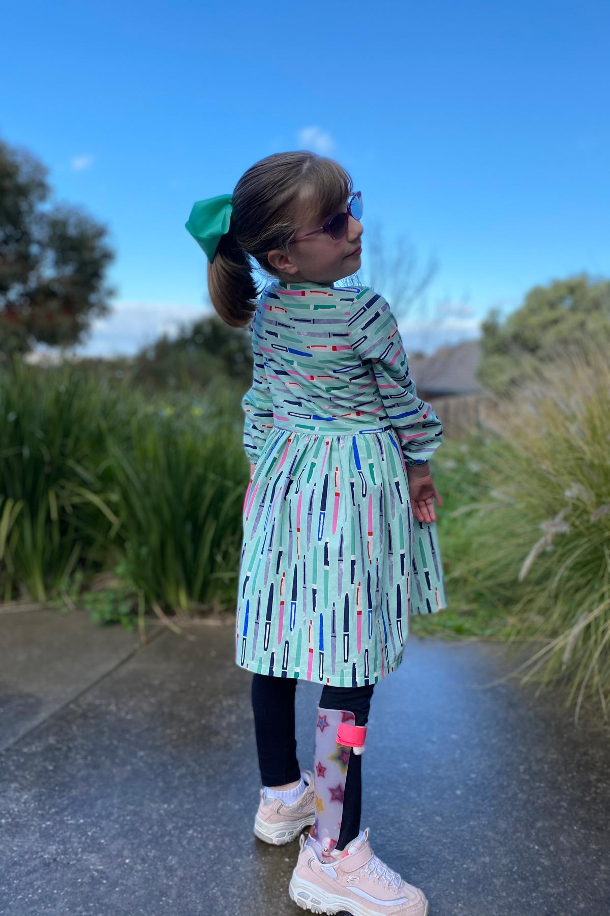 Alexandra's tester Mini Darling Ranges dress