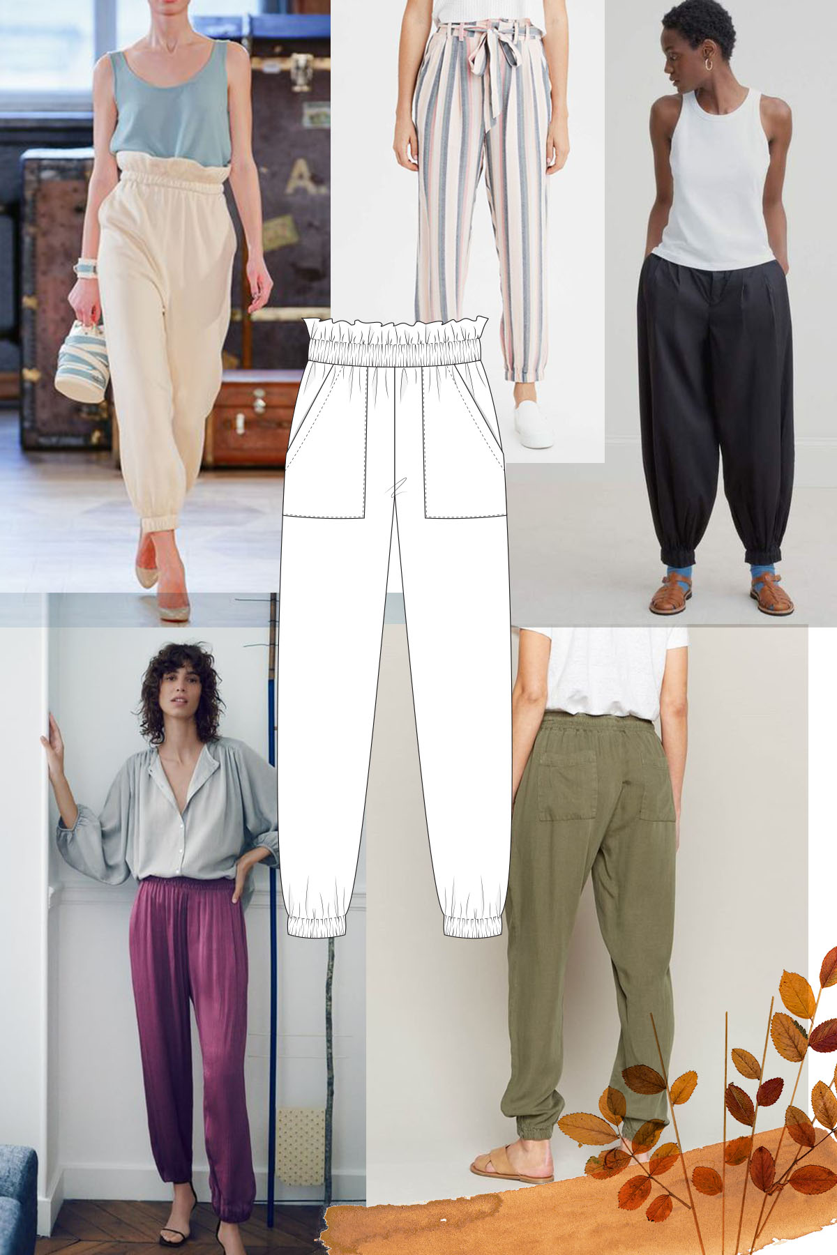 Adding elastic to the hem of your Opal pants to make them joggers
