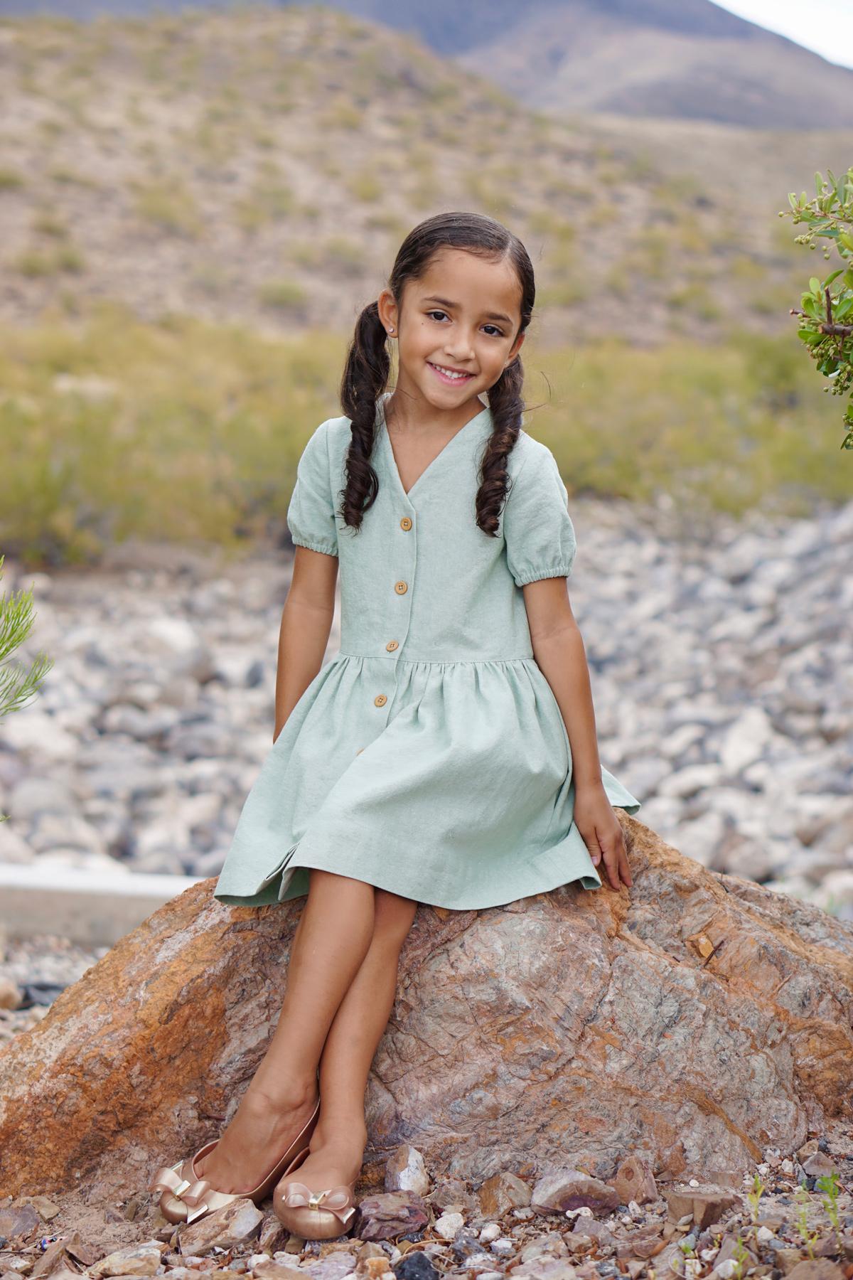 Nastasia's tester Mini Darling Ranges dresses