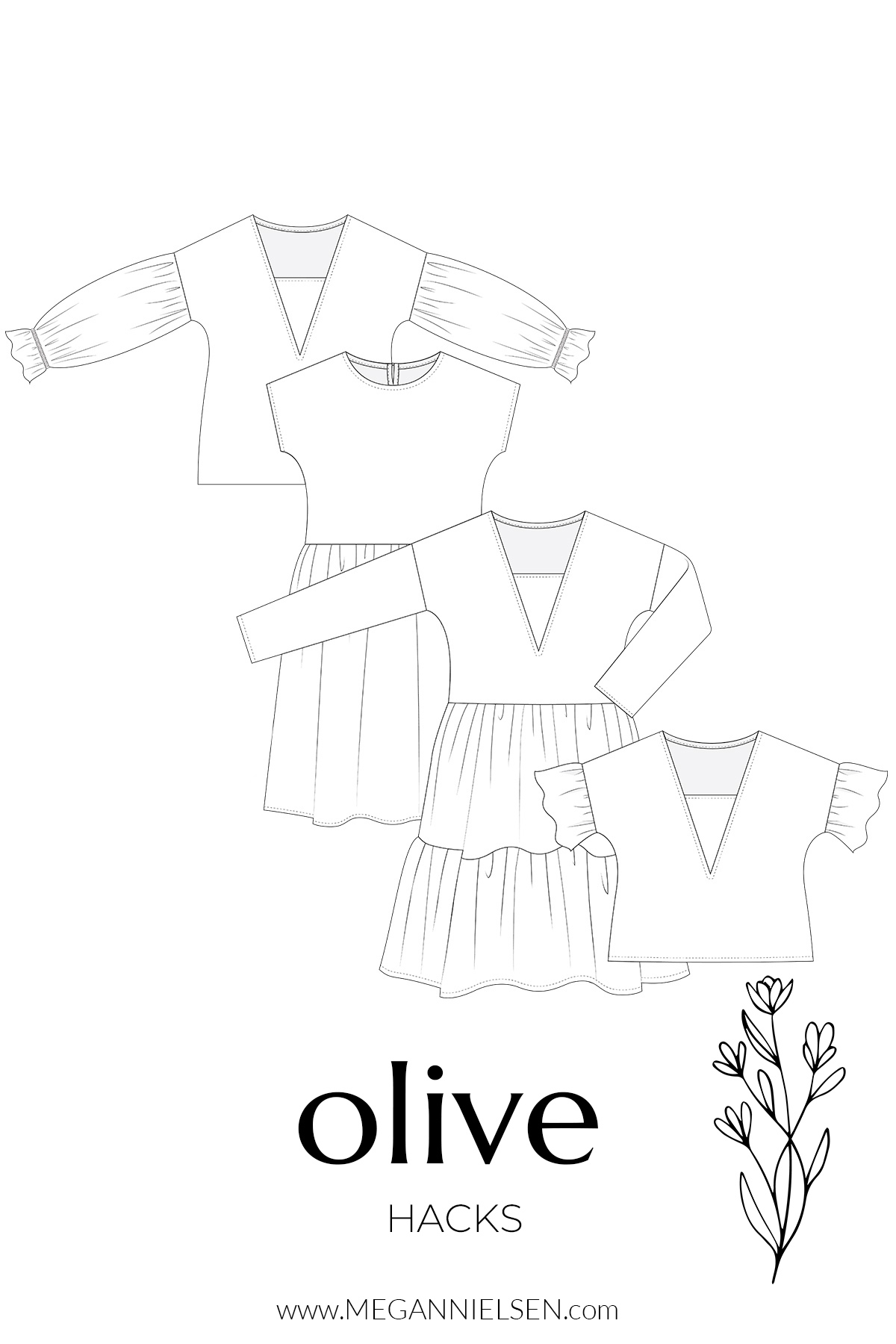 Hacks for the Olive dress and top pattern