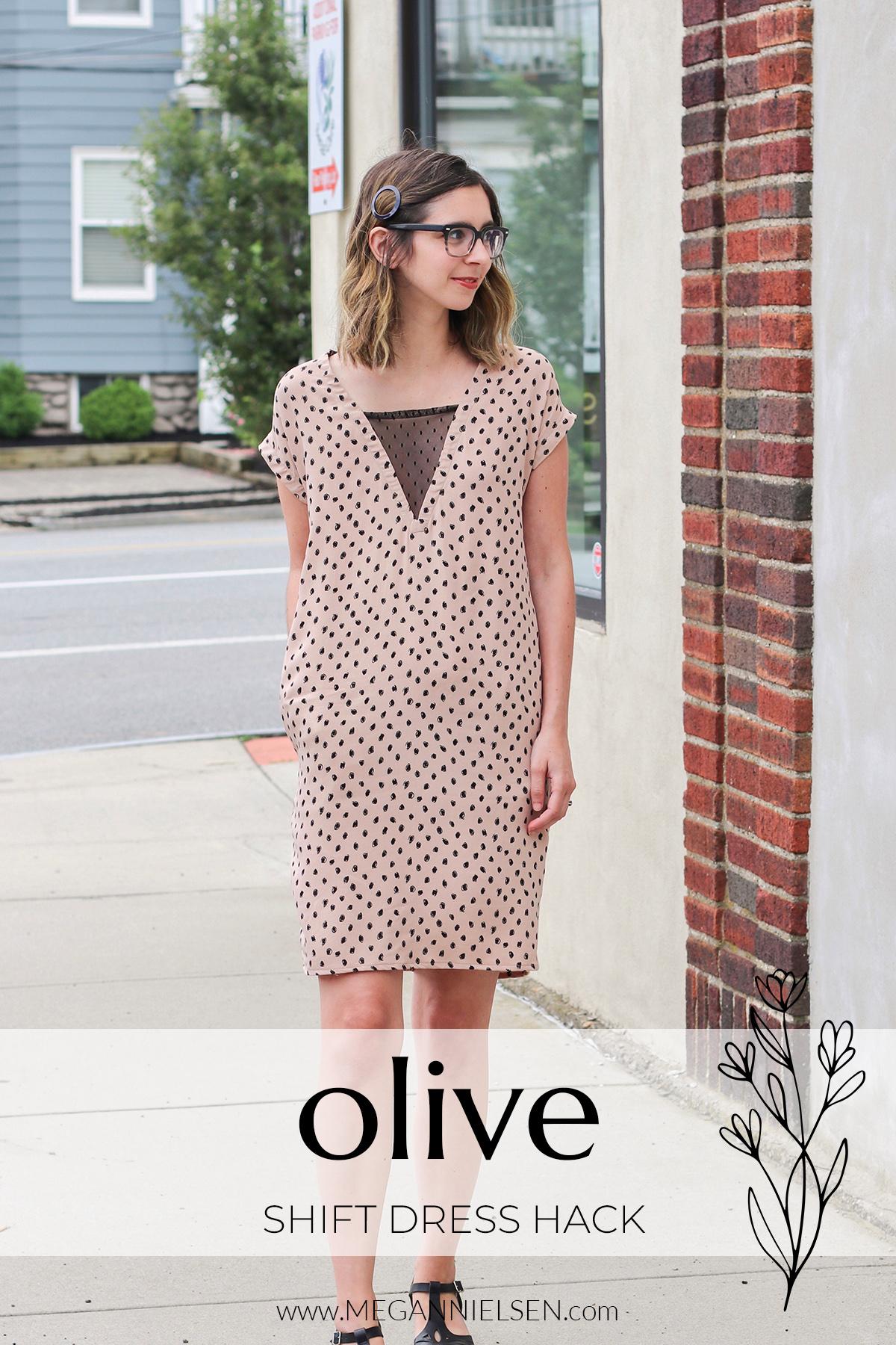 Olive shift dress hack