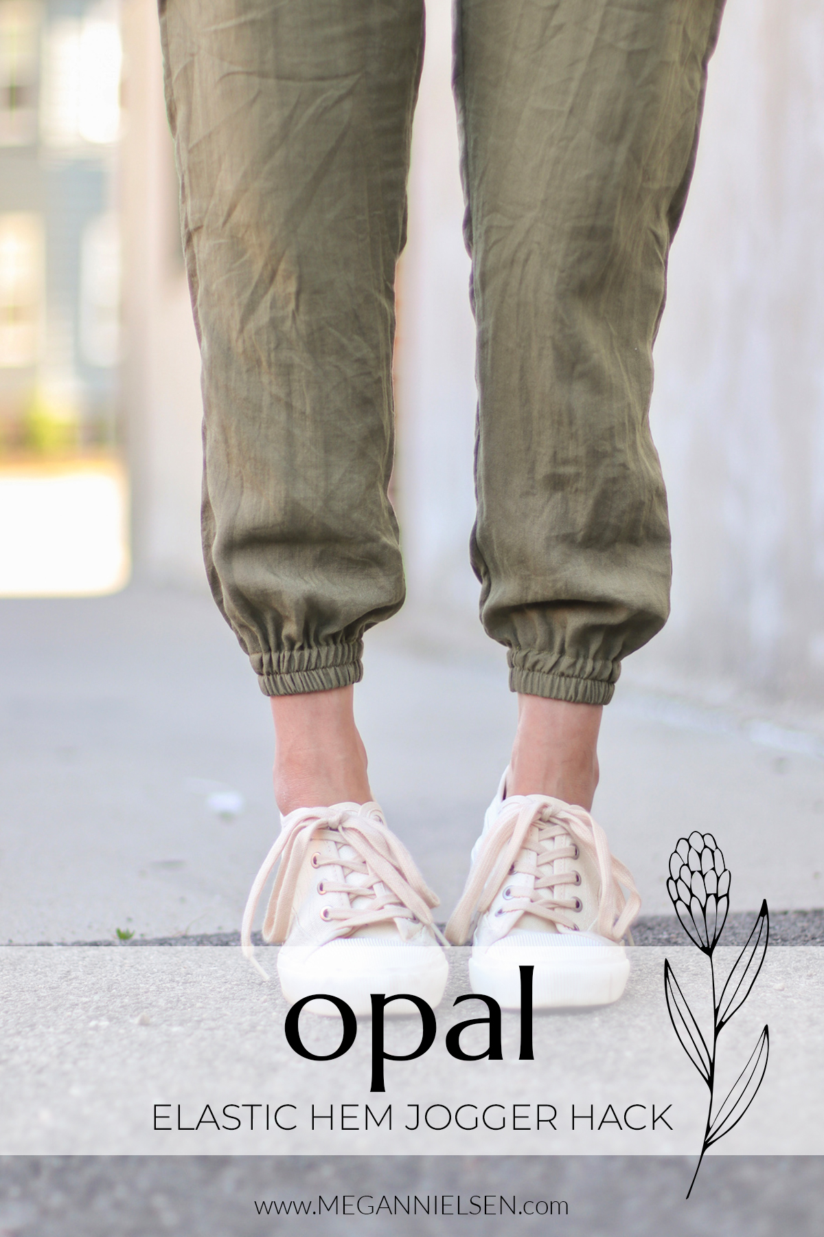 Elastic hem jogger hack for the Opal pants and shorts pattern