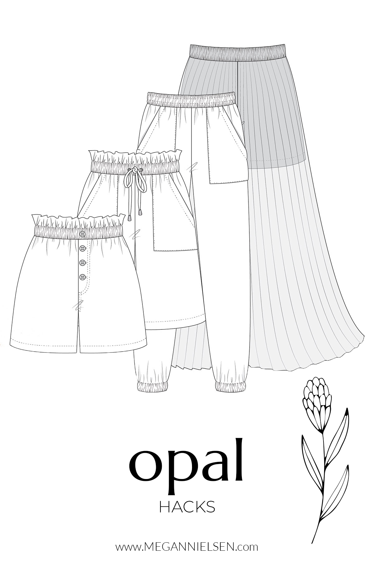 Hacks and variations for the Opal pants and short pattern