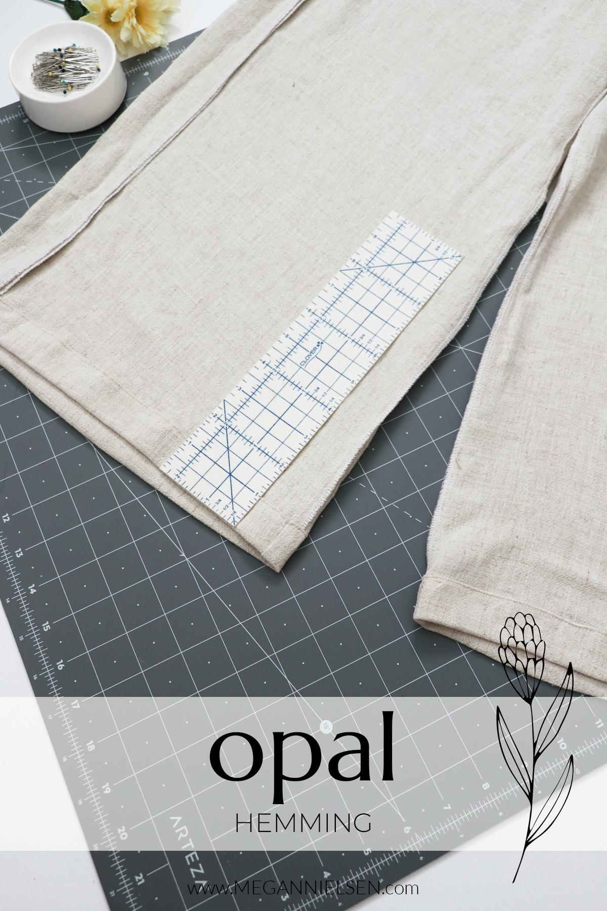 Opal sewalong hemming the Opal pants and shorts pattern