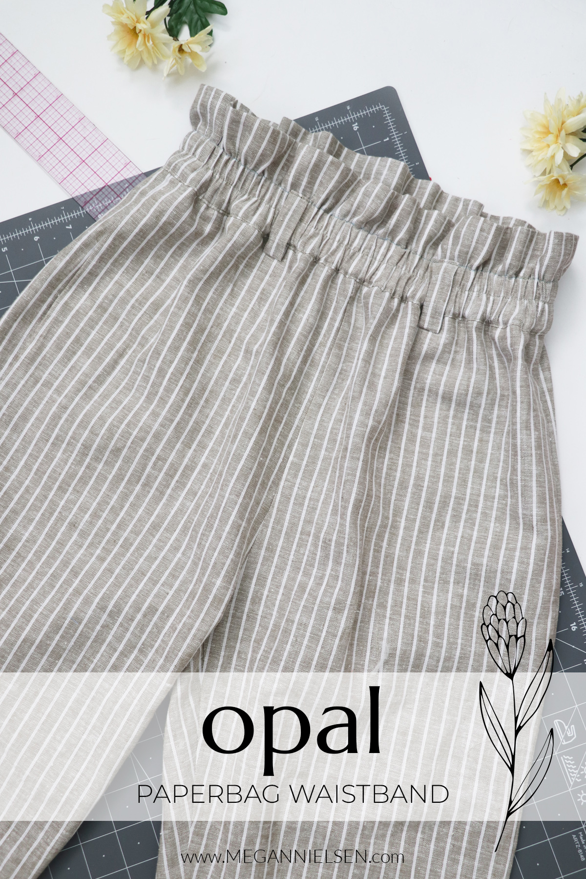 Opal sewalong paperbag waistband for the Opal pants and shorts pattern