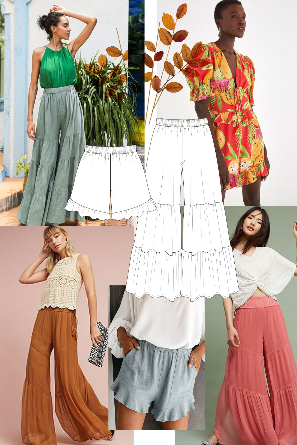 Ruffles make a special addition to your Opal pants