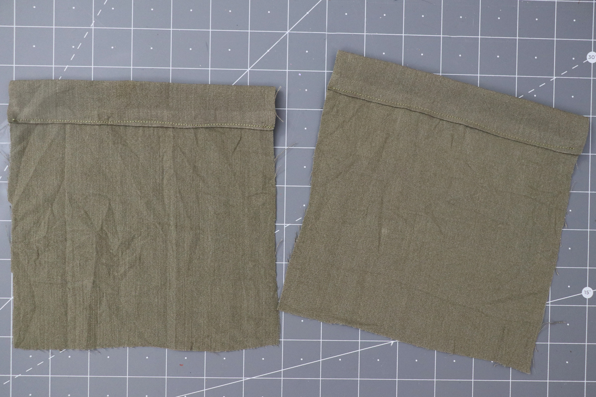 Opal Pants And Shorts - Cargo Pocket Hack Step 2 - Finishing Top Edge Of Pockets
