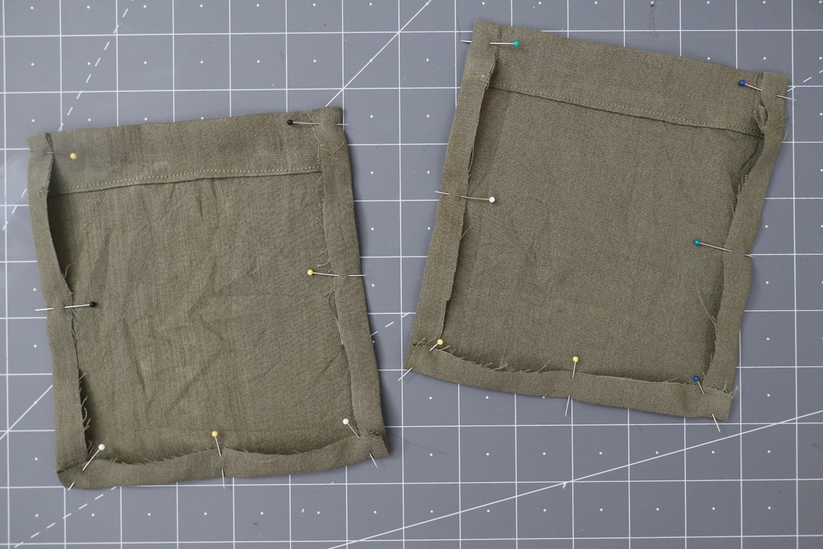 Opal Pants And Shorts - Cargo Pocket Hack Step 3 - Turning In Raw Edges Of Pockets