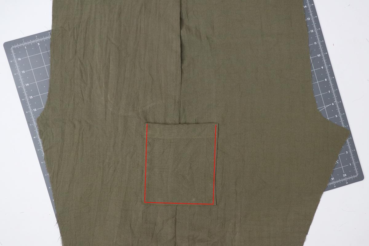 Opal Pants And Shorts - Cargo Pocket Hack Step 6 - Edgestitching Pocket