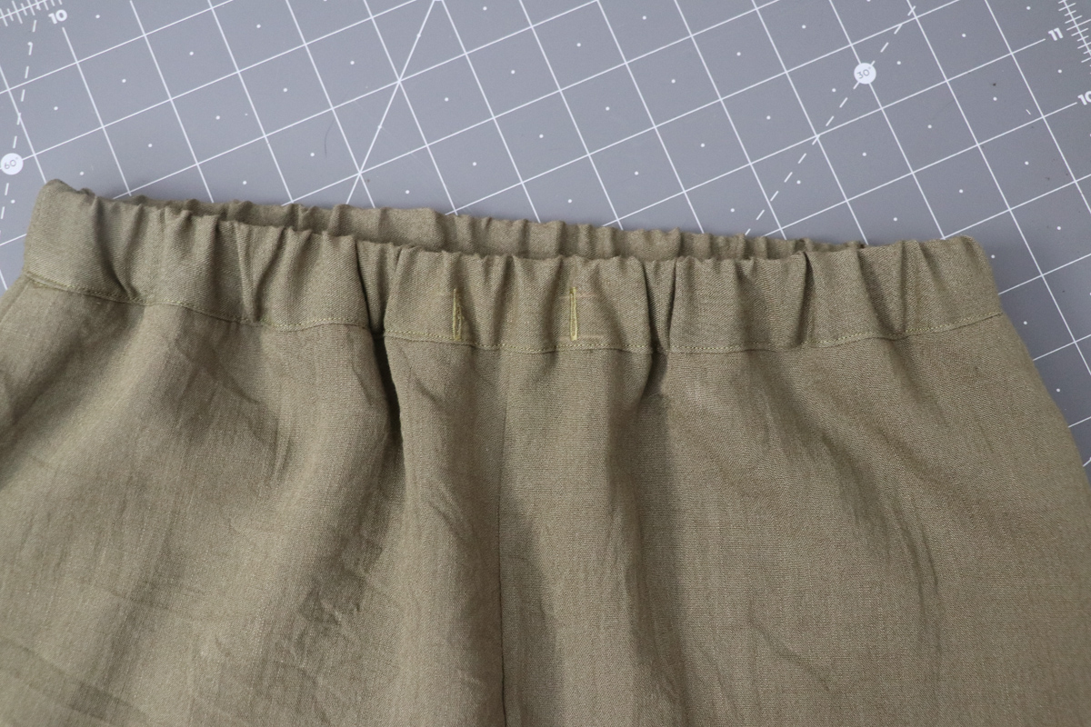Opal Pants And Shorts - Drawstring Hack Step 8 - Topstitch Waistband And Add Elastic