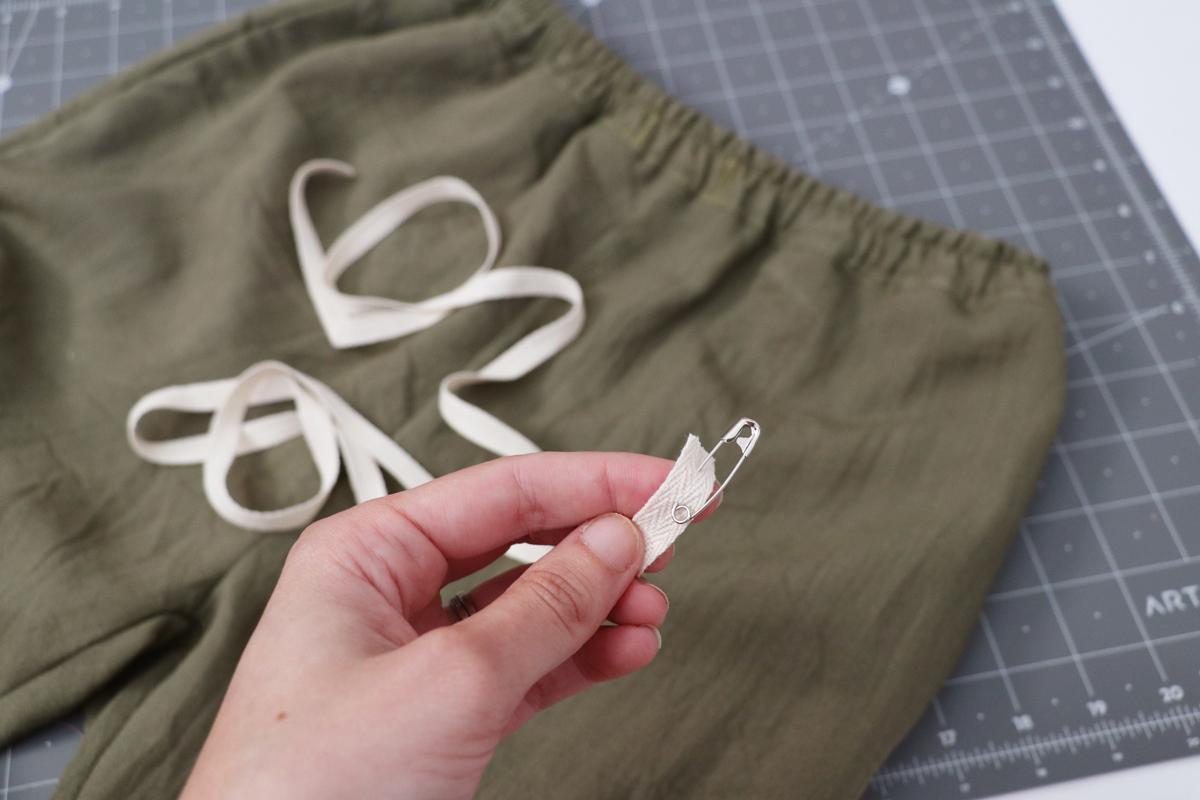 Opal Pants And Shorts - Drawstring Hack Step 10 - Cut Drawstring