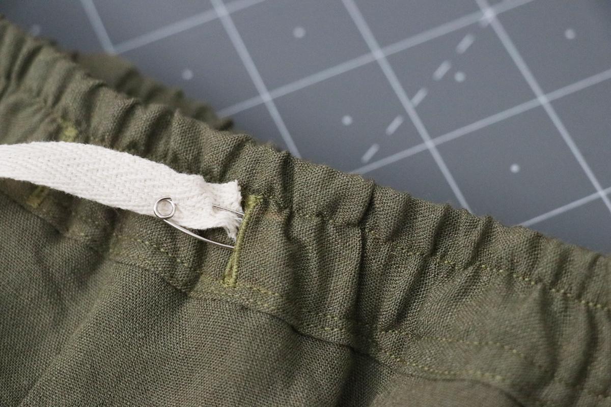 Opal Pants And Shorts - Drawstring Hack Step 11 - Threading The Drawstring
