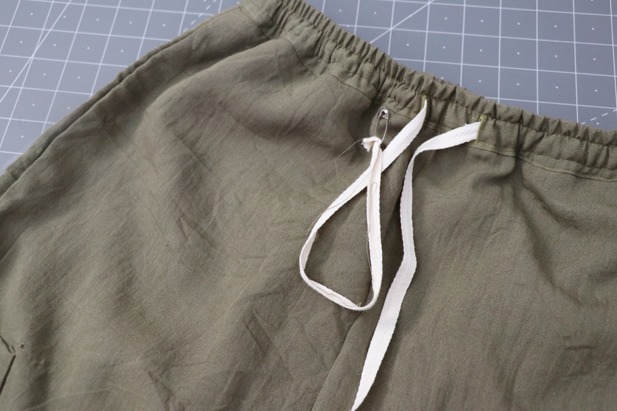 Opal Pants And Shorts - Drawstring Hack Step 12 - Finish Drawstring Ends