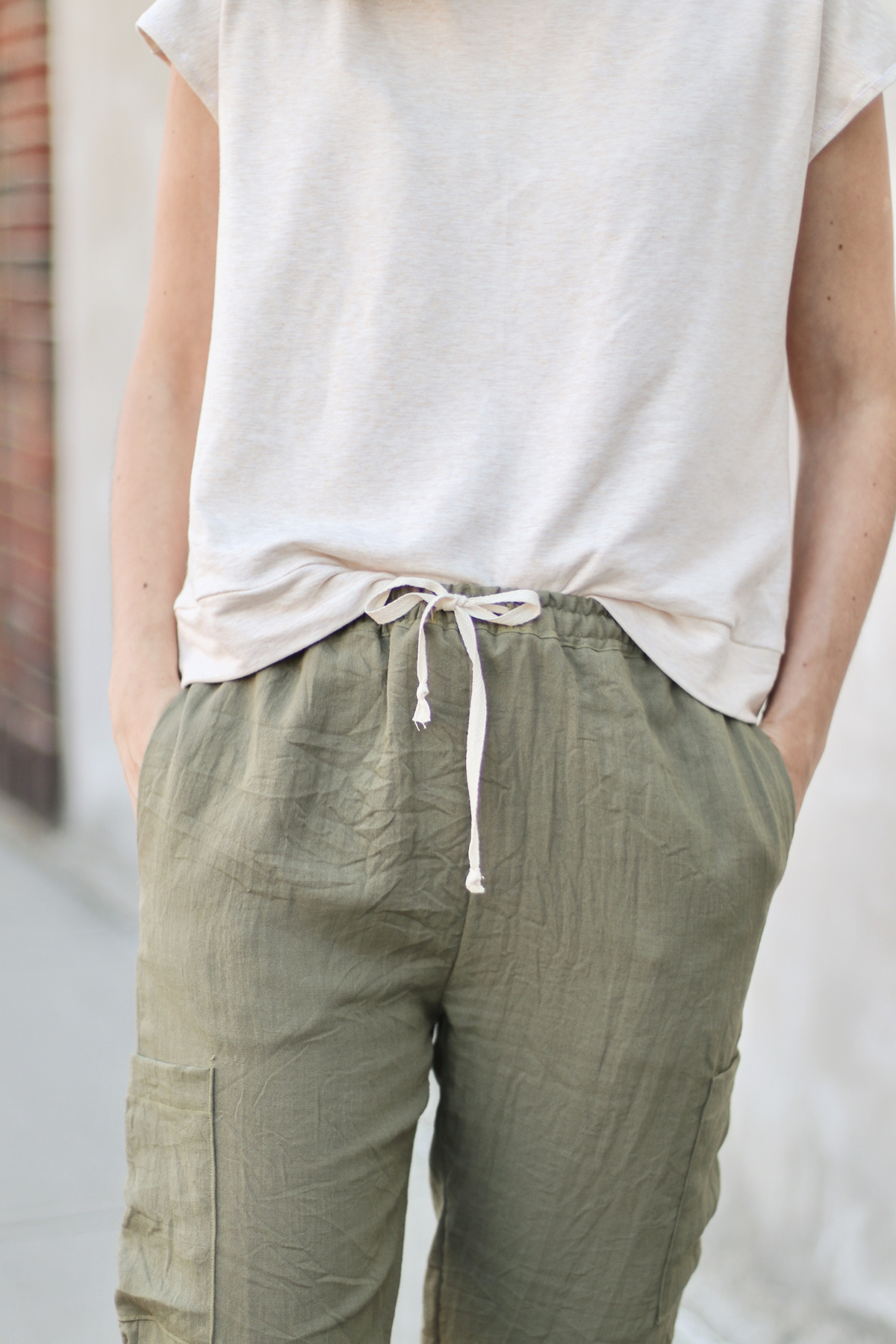 Opal Pants And Shorts - Drawstring Hack - Finished Result