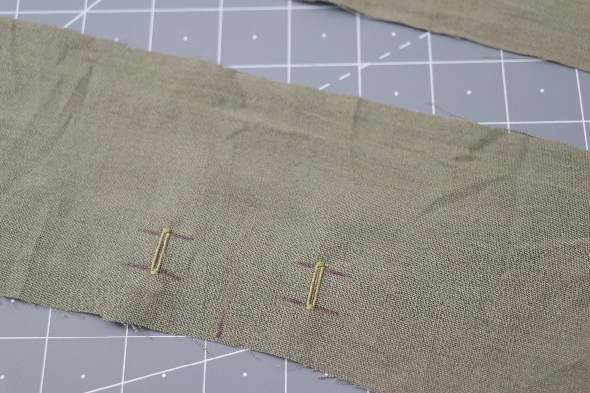 Opal Pants And Shorts - Drawstring Hack Step 4 - Stitching The Buttonholes